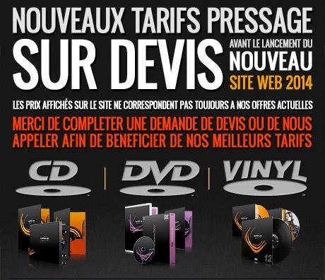 Nouveaux tarifs pressage cd - vinyl