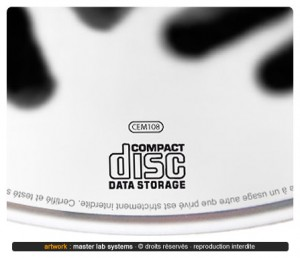 Zoom sur une fabrication disque CD-ROM