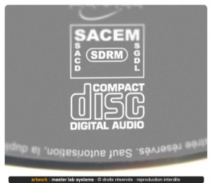Zoom sur un pressage cd audio (face imprimée)