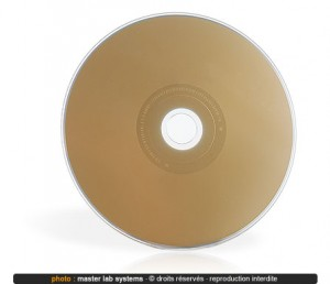 Exemple de pressage CD couleur Or (verso)