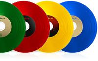 CD-DVD Vinyl Groove couleur