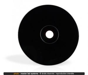 Exemple de pressage CD Vinyl groove (verso noir)