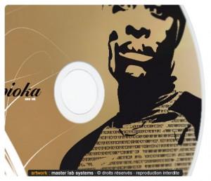 Zoom sur une fabrication CD couleur Or (face imprimée)