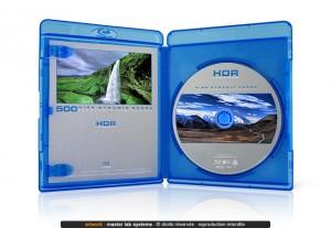 Exemple de fabrication Blu-ray © (ouvert avec livret)