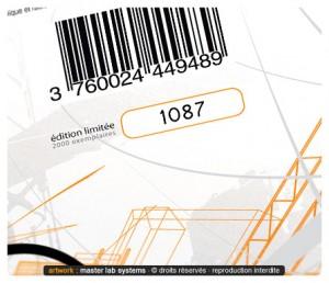 Exemple de fabrication CD digifile en série limitée (numérotation)