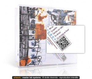 Exemple de pressage CD avec flashcode