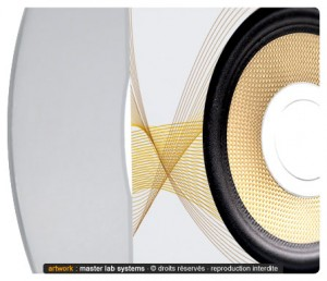 Zoom sur un pressage CD avec métallisation partielle (recto)