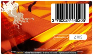 Exemple de pressage CD-DVD cristal numéroté