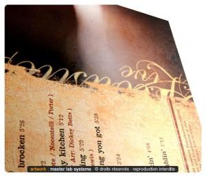 Exemple de pelliculage mat pour un pressage CD ou DVD digipack