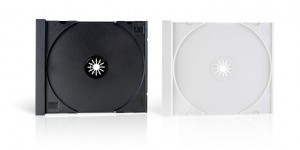 Exemple de plateaux disques CD DVD cristal (noir - blanc)