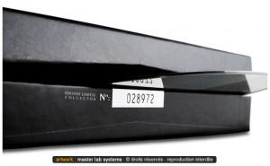 Exemple de pressage CD digibock numéroté (série limitée)