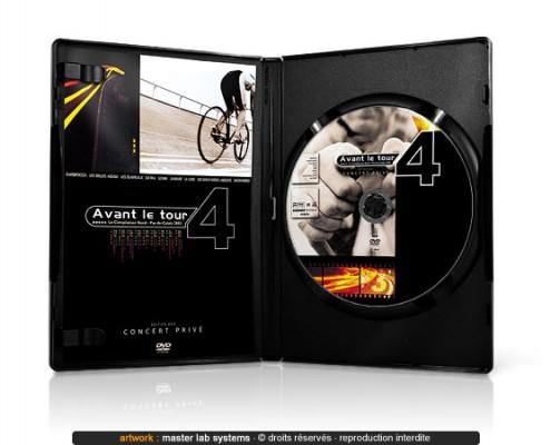 Exemple de pressage DVD amaray avec livret (vue intérieure)