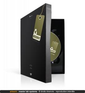 Exemple de pressage DVD digibock ABS avec livre (face avant)