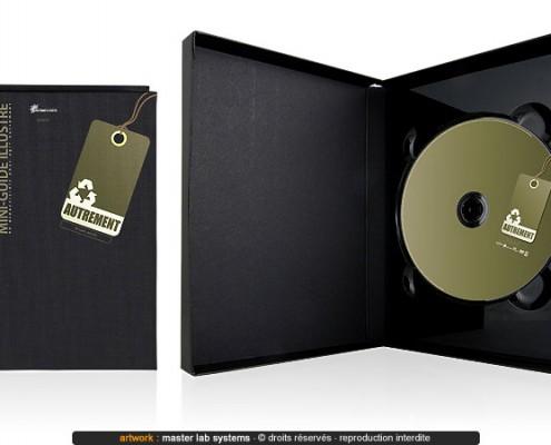 Exemple de pressage DVD digibock ABS avec livre (vue intérieure)